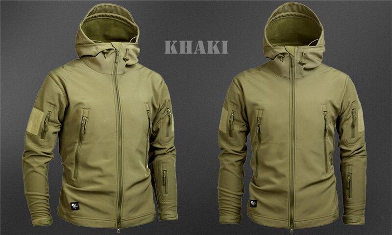 Mege Shark Skin Soft Shell Military Tactical Jacket Men Waterproof Army Fleece Clothing Multicam Camouflage Windbreakers 4XL 30