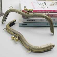 M Shape Bronze Double Layer 19cm 5Pcs/lot Metal-opening Bags DIY Bags Accessories Phone Bag Purse Frame Kiss Clasp Bag Hinge(China)