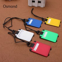 Osmond Luggage Tags Suitcase Baggage Labels ID Name Address Label Identifier Plastic Luggage Tag Wholesale Travel Accessories(China)