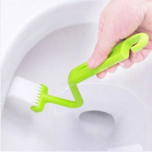 Curved Small Bathroom Toilet Cleaning Brush Corner Rim Cleaner Bent Bowl Handle