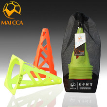 MAICCA 23CM 20pcs Football training Agility Equipment Plate Sports barrier Soccer Speed training Equipment Space Marker Cones(China)