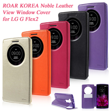 for coque LG G Flex2 F510L Mobile Cases ROAR KOREA Noble Circle View Window PU Leather Bag Shell capa Cover for LG G Flex 2 Case