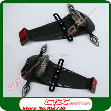 NEW Off road Motorcycle Dirt Bike Tail Light Registration Plate Holder with Turn Signal Light Rear Fender sets Free shipping