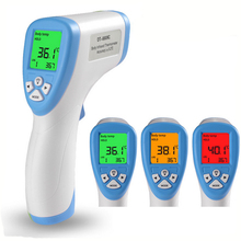 3 Colors 1 PCS  Forehead Non-contact Infrared Baby Thermometer with LCD Backlight Digital Thermometer Health Baby Care