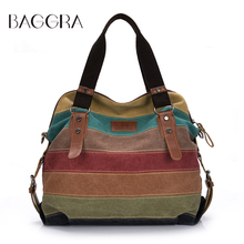 Baggra Women Handbags Canvas School Shoulder Bag Casual Messenger Bags Large Capacity Lady's Totes Bag Women Luxury 2017(China)