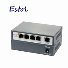 5rj45 4-port PoE switch 4 +1 Port desktop Fast Ethernet Switch network power supply 48V input for ip camera ip phone AP