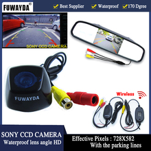 wirless LED Night Vision Car SONY Rear View Camera With 4.3 inch Color LCD Car Video Foldable Monitor Camera for bmw X1 X3 X5 X6(China)
