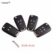 FGHGF Remote Key Case Shell for VAUXHALL OPEL Insignia Astra J Zafira C Mokka Car Control Fob Cover Housing HU100Blade with logo