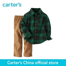 Carter's 2pcs children kids Flannel Button-Front Top & Corduroy Pant Set 249G274,sold by Carter's China official store