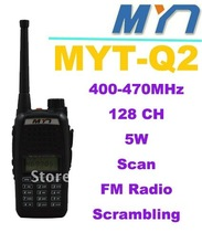 New Arrival walkie talkie High quality black color  MYT-Q2 400-470MHz 5W 128CH Professional FM Transceiver