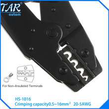 HS-1016 wire stripper EUROP STYLE ratchet crimping PLIER crimping plier 0.5-16mm2 multi tool