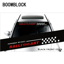 BOOMBLOCK Cool Car Front Rear Windshield Pattern Stickers Mercedes W204 W210 AMG Benz Bmw E36 E90 E60 Fiat 500 Volvo S80