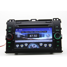 2 din for TOYOTA PRADO 120 Radio Car DVD player with GPS Navigation TV Map Russia Menu 3G USB host  Free shipping