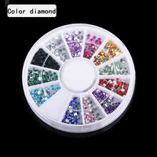 Nail ornaments tools disc fruit slices diamond peanuts color Diamond Nail Art pearl caviar flat bottom drill DIY decals