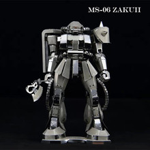 3D Metal DIY Puzzles GUNDAM Toys MS-06 ZAKUII Transformation Autobots Model DIY Jigsaws Gifts