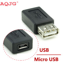 New Black USB 2.0 Type A Female to Micro USB B Female Adapter Plug Converter usb 2.0 to Micro usb connector wholesale