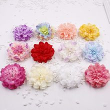 20pcs/lot Artificial Simulation Peony Flower Heads Big Size 8cm Rose Camellia Flower Head Diy Jewelry Wedding Christmas Party(China)