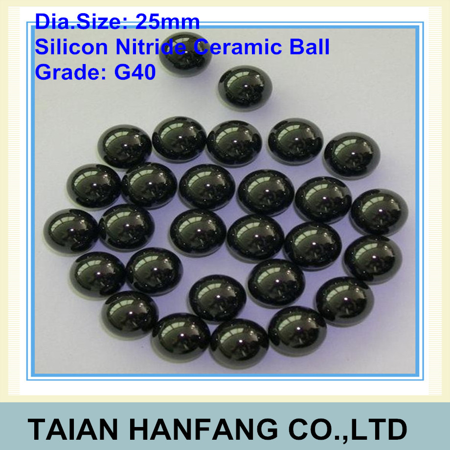 25mm  Silicon Nitride Ceramic Ball  Si3N4 Grade G40  Used in Bearing, Pump, Valve Ball  25mm ceramic ball<br>