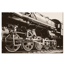 Contemporary Wall Art Prints Black Retro Steam Train Canvas Wall Pictures Poster Artwork Modern Home Decorative Painting Vintage(China)