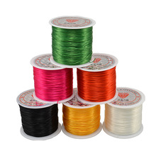 70M/Roll 0.5mm Colorful Stretchy Elastic Rope Cord Crystal String For Jewelry Making Beading Bracelet Wire Thread Rope(China)