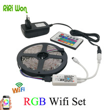 RiRi won LED Light 5m 10m SMD RGB LED Strip 5050 LED light flexible 30Led/m led tape diode ribbon wifi remote controller(China)