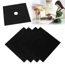 4 Pcs Square Foil Gas Hob Protector Liner Reusable Easy Clean Protection Pad