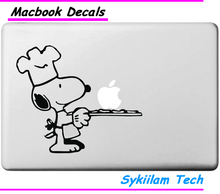 Cartoon Cook Dog for apple Sticker Macbook Skin Air 11 12 13 Pro 13 15 17 Retina Creative Decal Loptop Wall Car Vinyl Logo