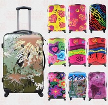 "20""24""28""inch butterfly pc rolling luggage trolley bag retro suitcases spinner"