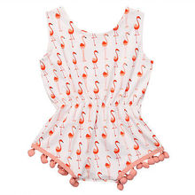 swan Cute Newborn Baby Girl Tassel Romper Infant Bebes Fly Sleeve One-pieces Toddler Kids Jumpsuit Outfits Sunsuit