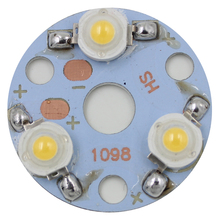 free shipping 30pcs 3 X 1W LED Star HIGH POWER +32mm High Power LED Aluminum Base Plate radiator board(China)