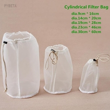 2pcs  120/95/75/48 micron Cylindrical food grade Filter Bag for Tea Milk Juice Wine Liquid filtering Colanders