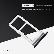 Dulcii for Galaxy A 3 (2017) Replacement Parts SIM + Micro SD Card Tray Holder OEM Replacement for Samsung Galaxy A3 (2017) A320(China)