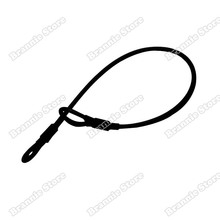 1000pcs/lot black color eas security tag lanyard eas steel wire for clothes&shoes protection double loop dhl free shipping