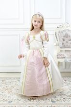 Kids Halloween Cotumes Sleeping Beauty Aurora Cosplay Dress Birthday Party Pink Dress Christmas Gift  Free Crown & Wand