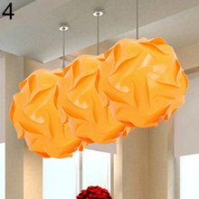 New Trendy 30 Pcs DIY Festival Ceiling Pendant Lamp Shade IQ Jigsaw Puzzle Light Shade 25cm