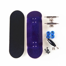 Canadian Maple Purple Professional Finger Skateboard Birthday Gift Finger Boards Nickel Bearing Wood Finger Skate Fingerboard(China)