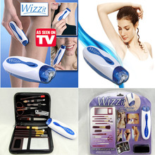 2017 AS SEEN ON TV Wizzit hair remover set High Quality electric epilator + makeup tools + storage bag lady suit TV in stock(China)