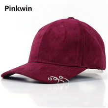 2017 explosion winter baseball cap plate hoop ladies candy colored suede hat male hip hop star with a peaked cap(China)