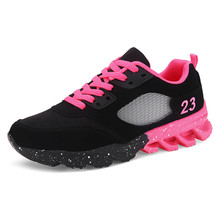 2017 New Womens and Girl Brand cheap Running Shoes Outdoor Breathable Athletic Jogging Sneakers student Sport Blade Shoes black(China)