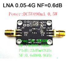 Low Noise LNA 0.05-4G NF=0.6dB RF amplifier Signal Receiver FM HF VHF / UHF Ham Radio