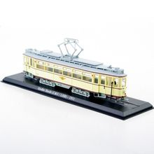 Hot Collectible 1:87  Model Trains GroBer Hecht (C&U/LHB)-1931 Tram Diecast Train Models  Tram Toys Yellow  Color C
