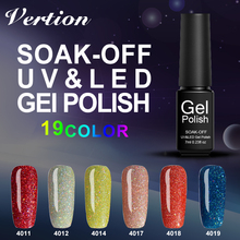 Verntion Design Nail Polish Neon Bling Gel UV LED Lamp Soak off Gel Polish 7ml Long Lasting UV Gel Grace DIY Nail Art(China)