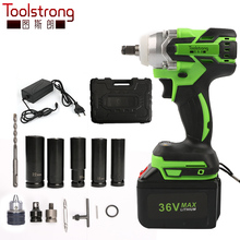 Toolstrong torque 320Nm brushless Cordless Electric wrench impact Socket wrench screwdriver installation power tool IW01B(China)