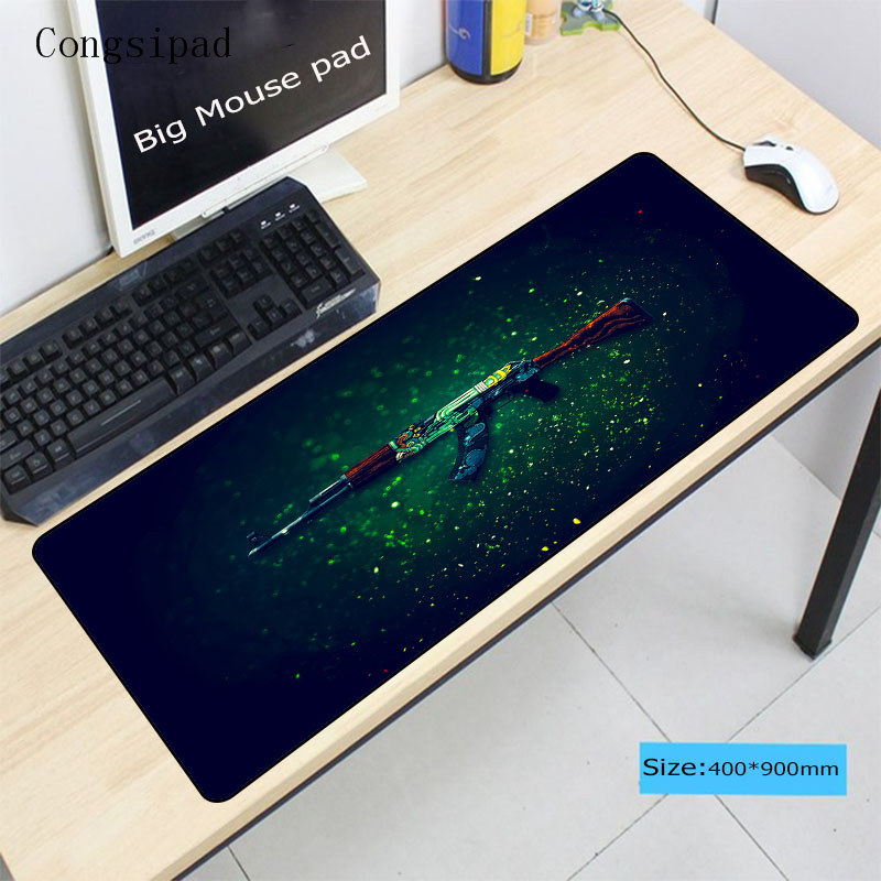 Anime Plus Size Gaming Mouse Pad Locking Edge Rubber Mouse Mat For Computers