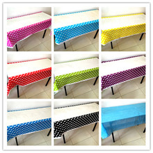 1PCS/LOT DOTS TABLE CLOTHS DOT COVER KIDS BIRTHDAY PARTY FAVORS HAPPY BIRTHDAY PARTY SUPPLIES DOTS TABLEOVERS(China)