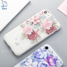 Buy KRY Soft TPU Silicon Thin Flower Phone Cases iPhone 7 X 8 Plus Case Cover iPhone 6 6s 5 5s SE Cases Capa Coque for $1.39 in AliExpress store