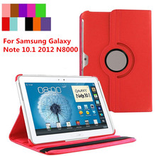 For Samsung Galaxy Note 10.1 2012 GT-N8000 N8000 N8010 N8020 Tablet Case 360 Rotating Bracket Flip Stand Leather Cover(China)
