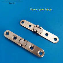 Free shipping small copper hinge plane table hinge connecting piece of furniture hardware accessories