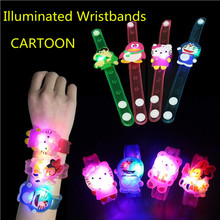 Illuminated Cartoon Spiderman LED Silicone Bracelet Night Light Party Christmas Decoration Lights Led Lamp For Kids Baby Gifts
