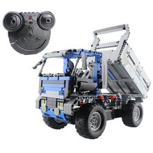 2.4G Remote Control Dump Truck Building Blocks Assembled RC Vehicles DIY 3D Puzzle Construction Educational Toy(China)